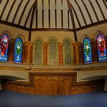 first-floor-room-with-feature-stained-glass-wood-carving-mosaics-where-church-santuary-was